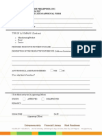 Product Application & Approval Form