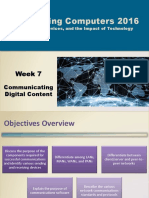 Communicating Digital Content