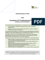EU ICT Professional Profiles CWA Updated by e CF 3.0