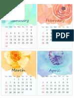 Printable Calendar for 2016