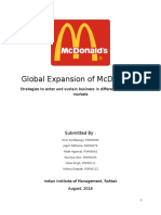 McDonalds Internation Strategy