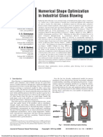 (Amal) Numerical Shape Optimization in Industrial Glass Blowing