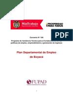 Plan dominio publico de Empleo de BOYACÁ