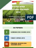 Program Kerja Kementan 2016