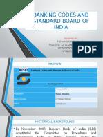 Tsewang Norbu Bhutia Banking Codes and Standard Board of India