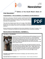 ASA SW Swim 21 Newsletter Issue 2 - May08
