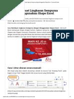 3 Cara Membuat Lingkaran Sempurna Dengan Menggunakan Shape Excel - Rumusan Excelku