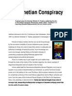 The Venetian Conspiracy to Rule and Exploit the World.