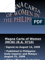 Magna Carta of Women Leave Privileges