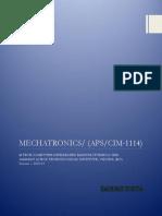 Mechatronics - CIM 1114