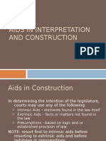 Aids in Interpretation and Construction (1)