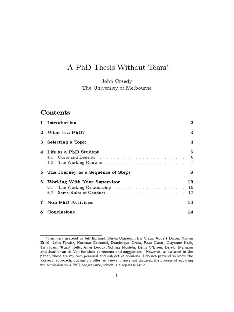 Philosophy PhD thesis collection