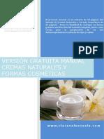 Clara Valenzuela Version Gratuita Manual Cremas Naturales Formas Cosmeticas