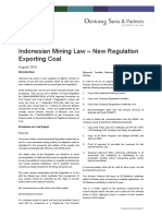 Mining Update - Indonesian Coal Export Licenses