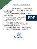 Daftar Sop Petugas Kebersihan Di Rs Internet