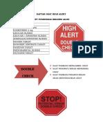 Daftar Obat High Alert Dan Lasa