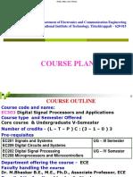 3-Course Plan - UG- EC303 DSP