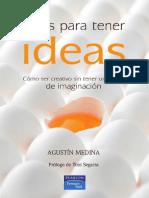 Ideas para tener ideas. Agustín Medina PREVIEW