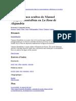 Los Monstruos Ocultos de Manuel Vázquez Montalbán en La Rosa de Alejandría