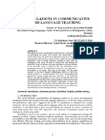 USING SIMULATIONS IN COMMUNICATIVE ENGLISH LANGUAGE TEACHING - buletin aca.doc