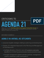 Criticisms to Agenda 21