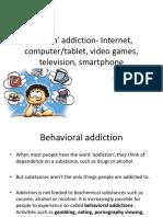 Screen' Addiction- Internet, Computer