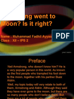 Amstrong Went to Moon, Is It Right (Question Mark)