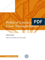 Political Literacy and Civic Thoughtfulness