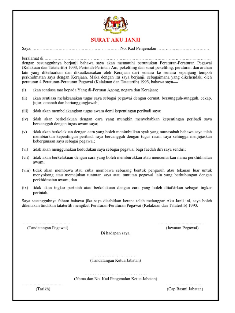 Surat Aku Janji Pdf