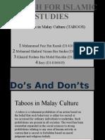 Taboo in Malay Culture