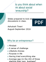 Social Entrepreneurship Discussion Slides