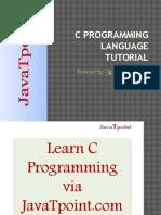 C Progragramming Language Tutorial Ppt f