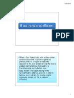 Mass Transfer Coefficient Class Note