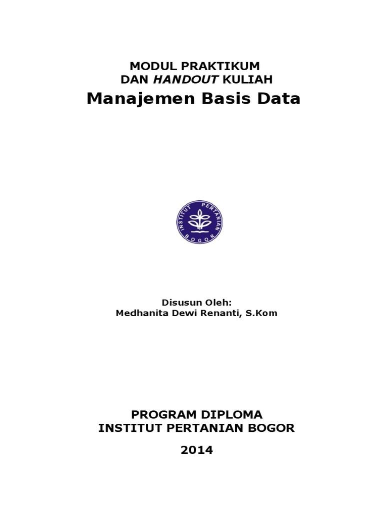Modul praktikum mata kuliah basis data ccuart Choice Image