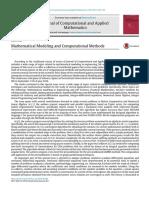 Mathematical Modeling and Computational Methods