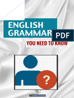 English Grammar You Need to Know