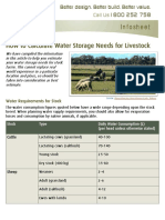 Water Storage Needs for Livestock