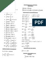 Formulario Básico de Integrales y Derivadas