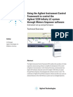 Agilent Ics Framework for control with waters Empower software