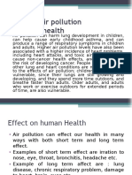 Effect of Air Pollution