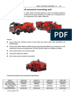 Truck Mounted Cementing Unit