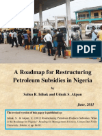 A Roadmap for Restructuring Petroleum Subsidies in Nigeria