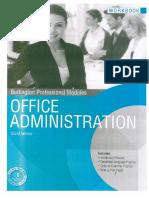 Office Administration (Workbook)