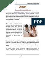 Unidad 6 - Relaciones Humanas en El Trabajo