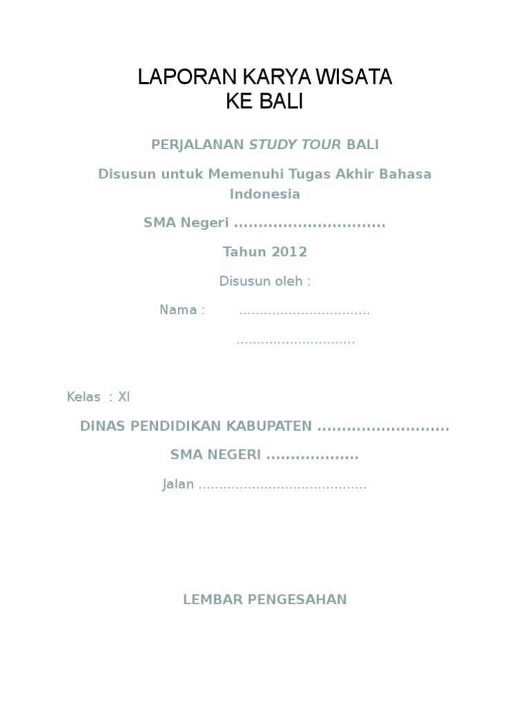 Laporan Karya Wisata Ke Bali Doc