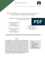 Modelado matematico metanol