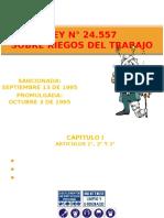 LEY N° 24.557 RIEGOS DEL TRABAJO