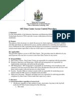 Data Center Access Control Procedures