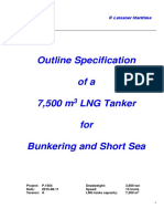 Outline Specification 7,500 m3 LNG Carrier