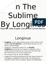 On the Sublime (Longinus)